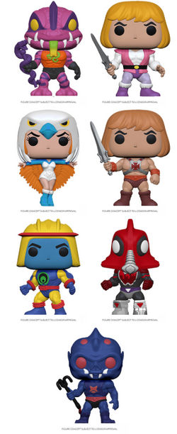 Masters of the Universe Funko Pop! Complete Set of 7 (Pre-Order)