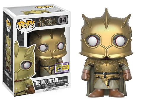 Game of Thrones Funko Pop! The Mountain (Armoured) (Shared Sticker) #54