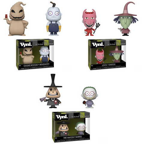 Nightmare Before Christmas Funko VYNL Complete Set of 3 (2-Packs) (Pre-Order)