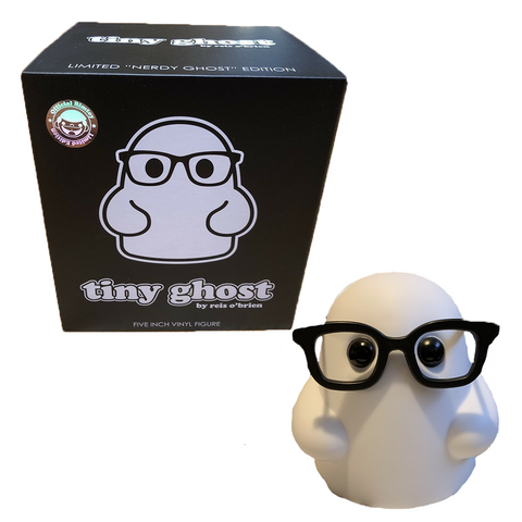 Tiny Ghost Vinyl Figure (Nerdy Ghost)