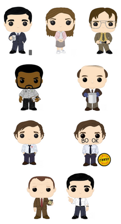 The Office Funko Pop! Complete Set of 9 CHASE Included (Pre-Order)