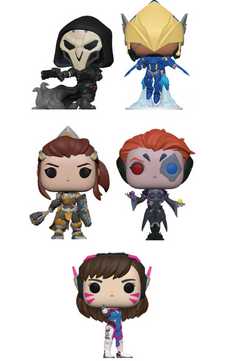 Overwatch Funko Pop! Complete Set of 5 Regular Sized Wave 5 (Pre-Order)