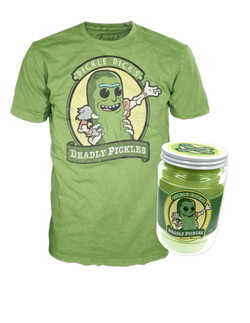Rick and Morty Funko Apparel Tee Pickle Rick Jar NYCC Exclusive