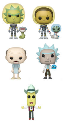 Rick and Morty Funko Pop! Complete Set of 5 (Pre-Order)