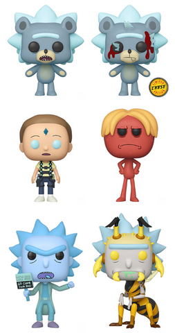 Rick and Morty Funko Pop! Complete Set of 6 Season 4 CHASE Included (Pre-Order)