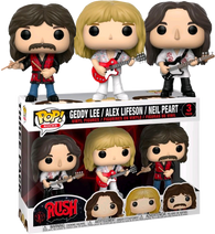 Rush Funko Pop! Geddy Lee, Alex Lifeson & Neil Peart 3-Pack (Pre-Order)