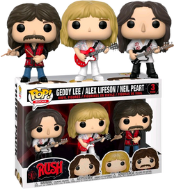 Rush Funko Pop! Geddy Lee, Alex Lifeson & Neil Peart 3-Pack