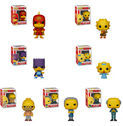 The Simpsons Funko Pop! Complete Set of 7