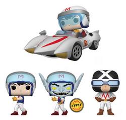 Speed Racer Funko Pop! Complete Set of 4 CHASE Included (Pre-Order)