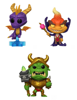 Spyro Funko Pop! Complete Set of 3 (Pre-Order)