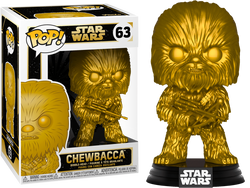 Star Wars Funko Pop! Chewbacca (Gold Metallic) #63 (Pre-Order)