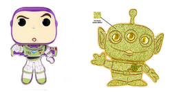 Pixar Funko Pop! Pins Buzz (1 in 3 Chance of Glitter Alien CHASE) (Pre-Order)