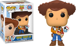 Toy Story 4 Funko Pop! Sheriff Woody Holding Forky #535