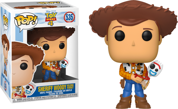 Toy Story 4 Funko Pop Sheriff Woody Holding Forky 535 Big Apple Collectibles