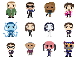 Umbrella Academy Funko Pop! Complete Set of 12 CHASES Included (Pre-Order)