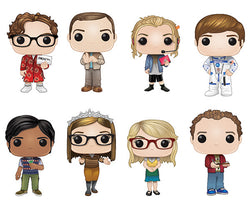 The Big Bang Theory Funko Pop! Complete Set of 8 (Pre-Order)