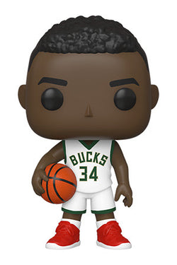 NBA Bucks Funko Pop! Giannis Antetokounmpo (White Jersey Red Shoes) (Pre-Order)