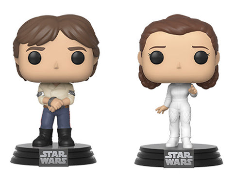 Star Wars: Empire Strikes Back Funko Pop! Han Solo (in Shackles) & Princess Leia (2-Pack) (Pre-Order)