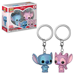 Disney Funko Pop! Keychain Stitch & Angel (2-Pack)