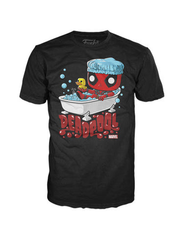 Marvel Funko Apparel Tee Deadpool Bubble Bath (Pre-Order)