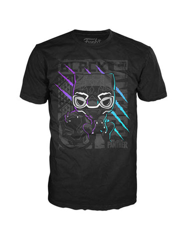 Funko Apparel Tee Black Panther Scratch