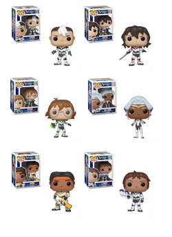 Voltron Funko Pop! Complete Set of 6 Regular Sized (Pre-Order)