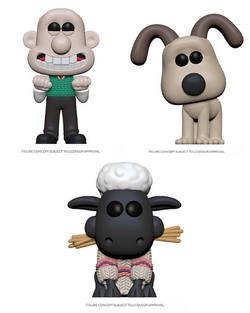 Wallace & Gromit Funko Pop! Complete Set of 3 (Pre-Order)