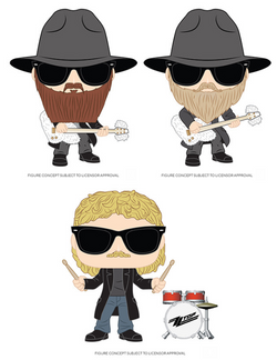 ZZ Top Funko Pop! Complete Set of 3 (Pre-Order)