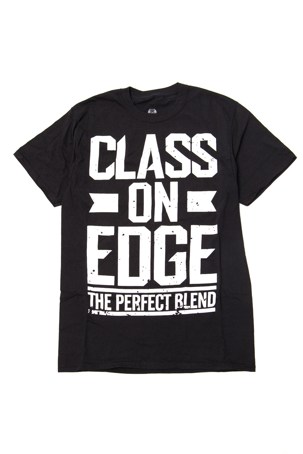 "Black ""The Perfect Blend"" T-shirt in White"