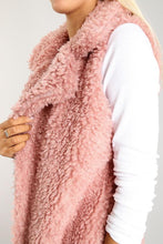 fuzzy long open cardigan