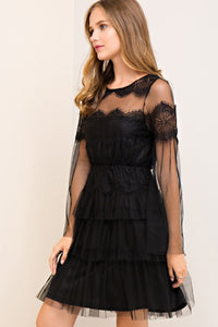 Dee Black Lace Dress - Sweet Glitter Rock