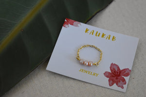 pink pearl ring