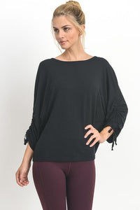 Lucy Ruched Lace Up Flow Blouse - Sweet Glitter Rock