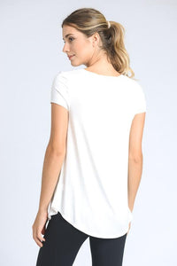 oversized b-neck tee with pocket