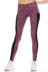 Renee Pink Workout Tights - 1