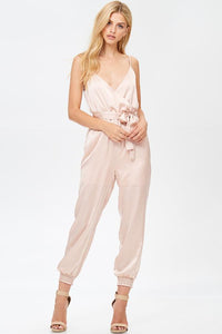 Valentina Satin Jumpsuit - Sweet Glitter Rock