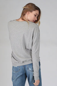 round neck mechanics wash sweatshirt grey