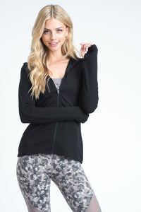 Lexi Zip Up Hoodie - Sweet Glitter Rock