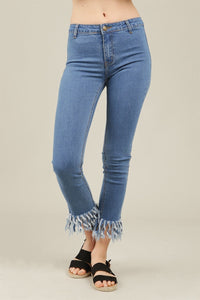 frayed jeans cotton