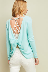 Long Sleeve Knot Top
