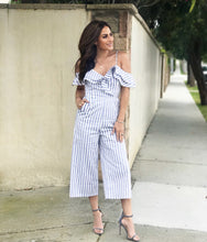 Jesse Striped Jumpsuit - Sweet Glitter Rock