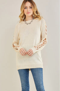 natural cutout sleeves