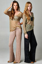 see through v neck pullover sweater beige