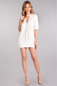 white tunic top dress