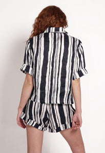 Women's Stripe Linen Shirt