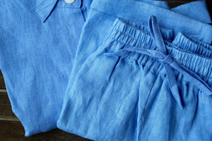 Women's Blue Linen Shirt