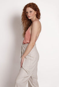 Women's Natural Linen Pants