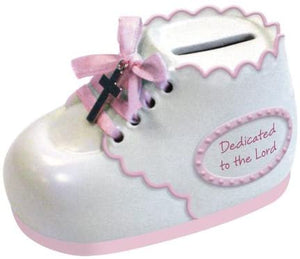 Enesco This Is The Day by Gregg Gift Dedication Bootie Bank, 2.25-Inch