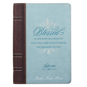 Personalized Blessed Zippered Classic LuxLeather Journal
