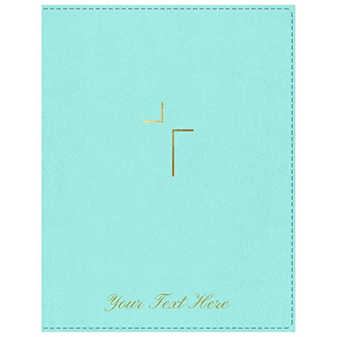 Personalized NIV The Jesus Bible Leathersoft Robin's Egg Blue